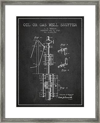 Oil Or Gas Well Snuffer Patent From 1938 - Charcoal Framed Print