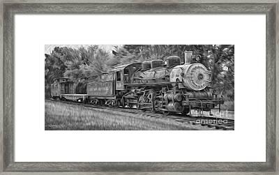 Oil Painted Train Framed Print by Brian Mollenkopf