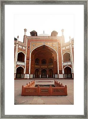Oil Painting - Cross Section Of Humayun Tomb Framed Print