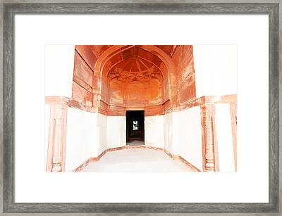 Oil Painting - Doorway In Humayun Tomb Framed Print