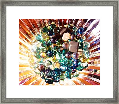 Oil Painting - Marbles And Stones Framed Print by Ashish Agarwal