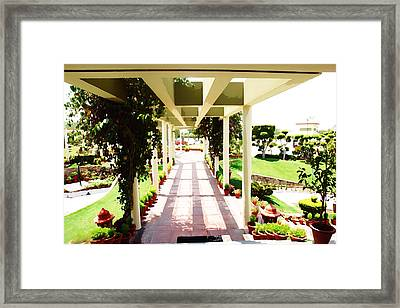 Oil Painting - Mix Of Light And Shade Framed Print by Ashish Agarwal