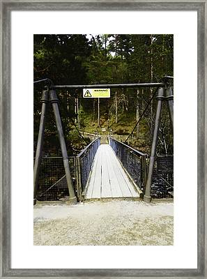 Oil Painting - Small Wooden Bridge Over The Corrieshalloch Gorge In The Scottish Highlands Framed Print