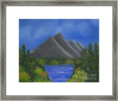 Oil Painting - Greenery Framed Print