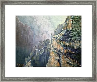Oil Painting - Majestic Canyon Framed Print