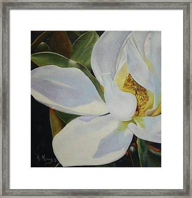 Oil Painting - Sydney's Magnolia Framed Print
