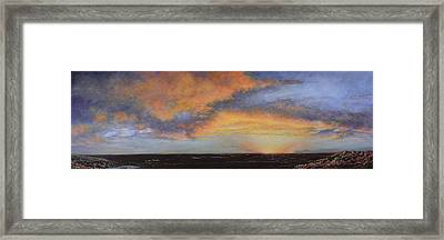 Oil Painting When The Sky Turns Color Framed Print