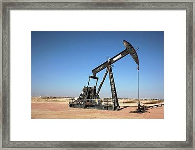 Oil Pump Framed Print by Bildagentur-online/tschanz-hofmann