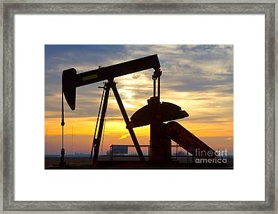 Oil Pump Sunrise Framed Print by James BO  Insogna
