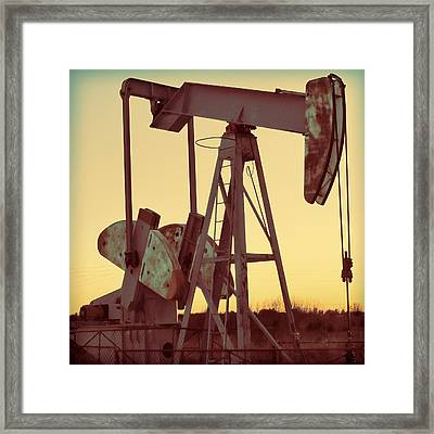 Oil Pump Framed Print by Tony Grider
