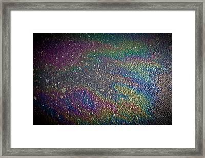 Oil Rainbow Framed Print