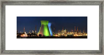 Oil Refineries Panoramic View Framed Print by Isaac Silman