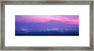 Oil Refinery, Andalucia, Spain Framed Print by Panoramic Images