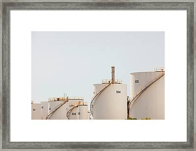 Oil Refinery Framed Print by Ashley Cooper