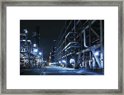 Oil Refinery, Chemical & Petrochemical Framed Print by Zorazhuang