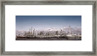 Oil Refinery Framed Print by Olivier Le Queinec