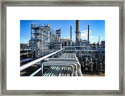 Oil Refinery Overall View Framed Print