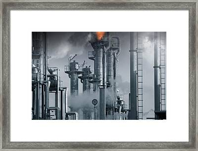 Oil Refinery Power And Energy Framed Print
