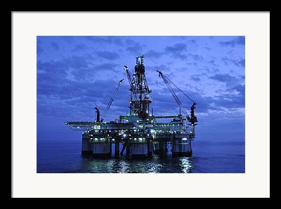 Sea Platform Framed Prints
