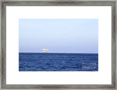 Oil Rig Framed Print by Henrik Lehnerer