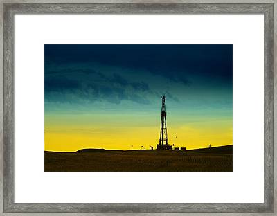 Oil Rig In The Spring Framed Print by Jeff Swan