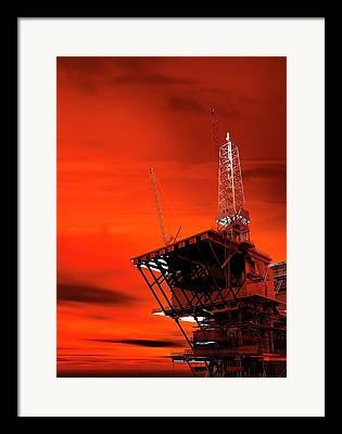 Oil Platform Framed Prints