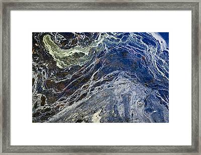 Oil Spill Abstract Framed Print by Dancasan Photography