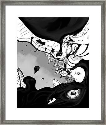Oil Spill Framed Print