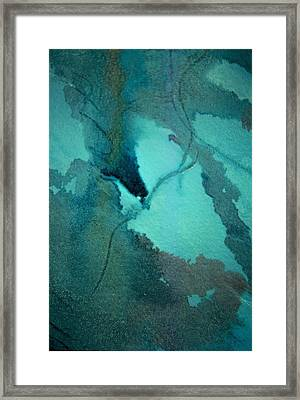Oil Spill Deep Within The Heart Of The Gulf Framed Print