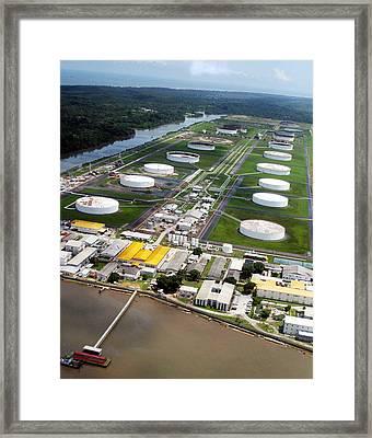 Oil Tank Farms  Framed Print