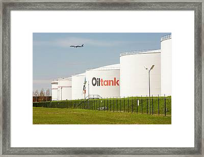 Oil Terminal In Amsterdam Framed Print