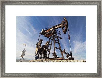 Oil Well  Framed Print by Cristina-Velina Ion