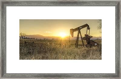 Oil Well Pump Framed Print by Aaron Spong