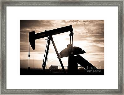 Oil Well Pump Framed Print by James BO  Insogna