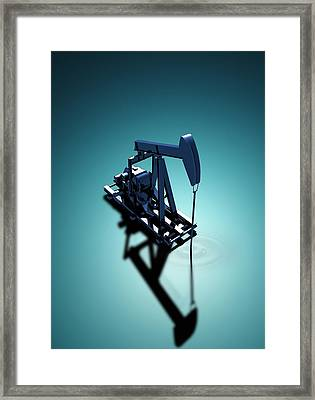 Oil Well Pump Framed Print by Victor Habbick Visions