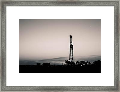 Oil Well Sunset Framed Print