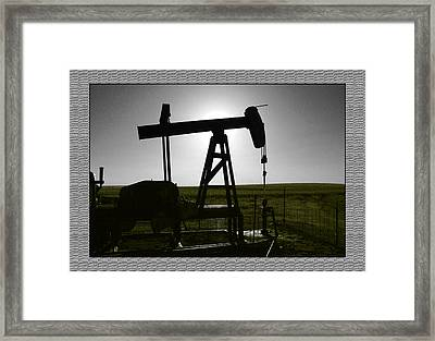 Framed Print featuring the photograph Oil Well by Thomas Bomstad