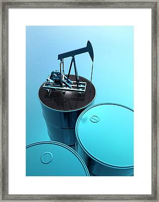 Oil Well Framed Print by Victor Habbick Visions