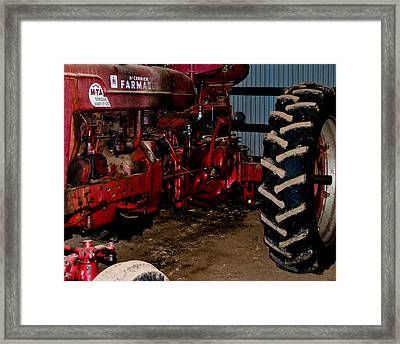 Oiled Tractor Framed Print by Nickaleen Neff