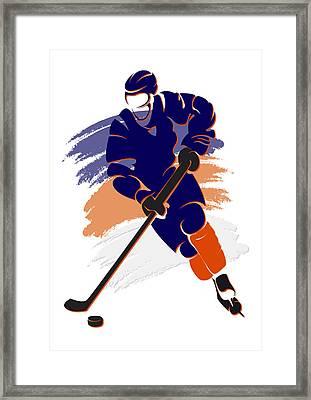 Oilers Shadow Player2 Framed Print by Joe Hamilton