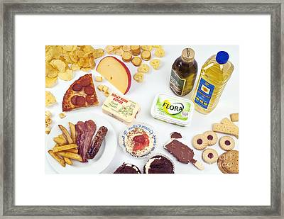 Oily And Fattening Food Framed Print by Martyn F. Chillmaid