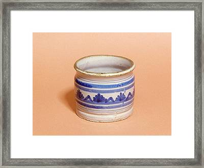 Ointment Pot Framed Print by Science Photo Library