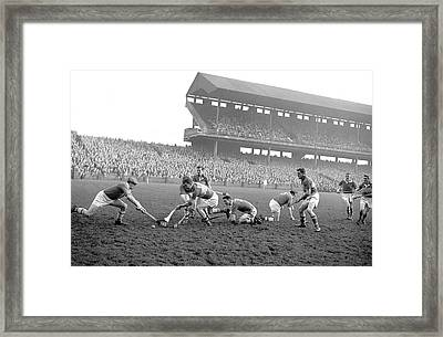 Oireachtas Hurling Final 1960 Framed Print by Irish Photo Archive
