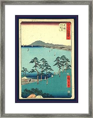 Oiso, Print Shows A Birds-eye View Of Trees And Cemetery Framed Print