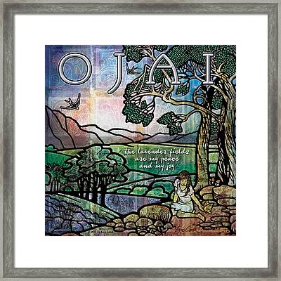 Ojai California Lavender Fields Framed Print by Evie Cook