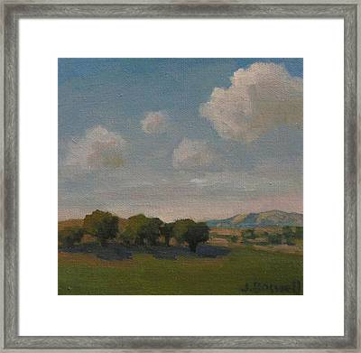 Ojai Oaks Framed Print by Jennifer Boswell
