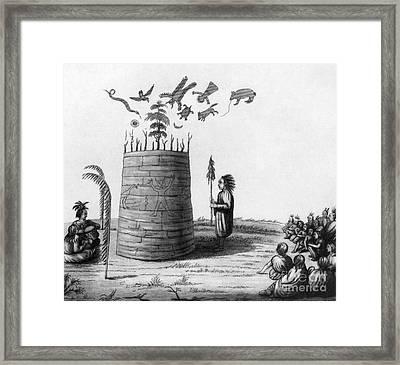Ojibwa Medicine Man Framed Print