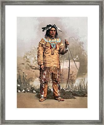 Ojibwas Aleck Waunosa 1903 Framed Print by Unknown