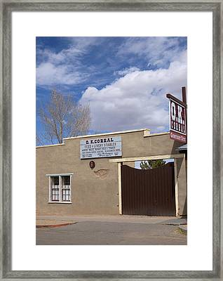Framed Print featuring the photograph Ok Corral Tombstone Az Usa by Bob Pardue