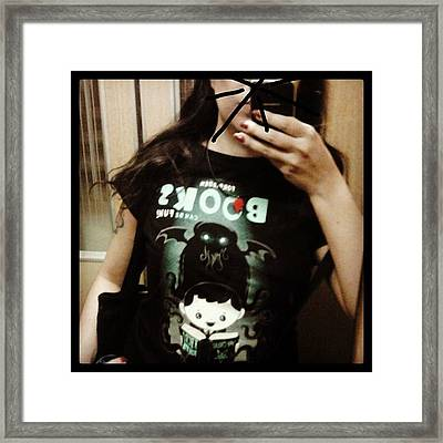 Ok, Here We Go With Another #tshirt Framed Print